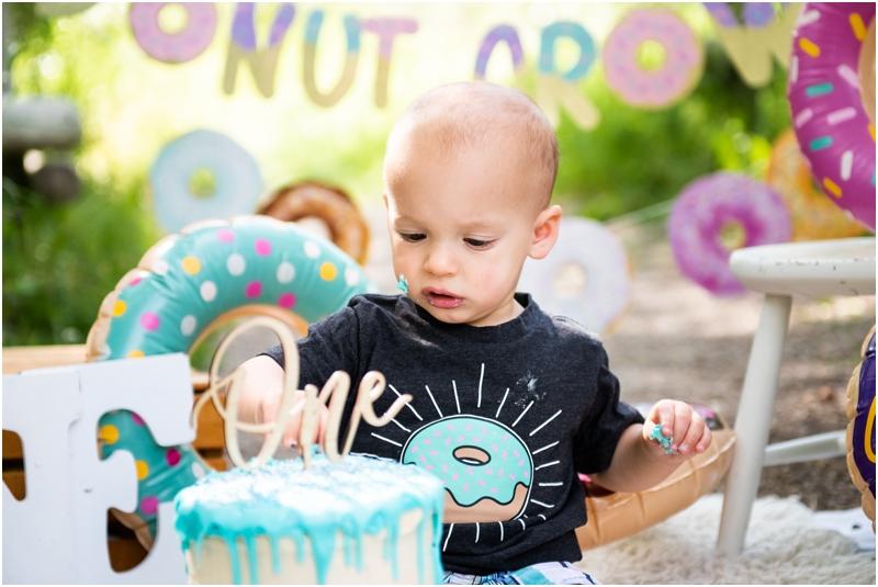 Calgary Doughnut Themed 1st Birthday Cake Smash Photos