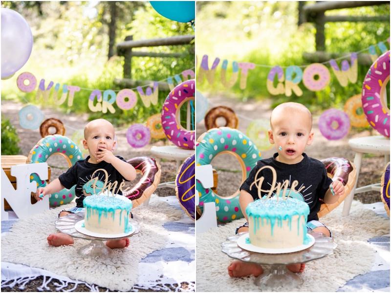 Calgary Doughnut Themed Cake Smash Photographer