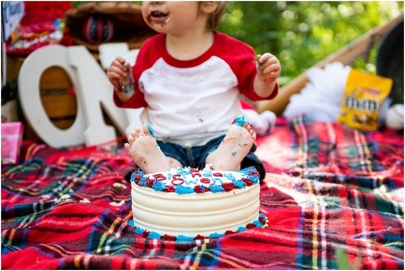 Calgary First Birthday Cake Smash Photographers