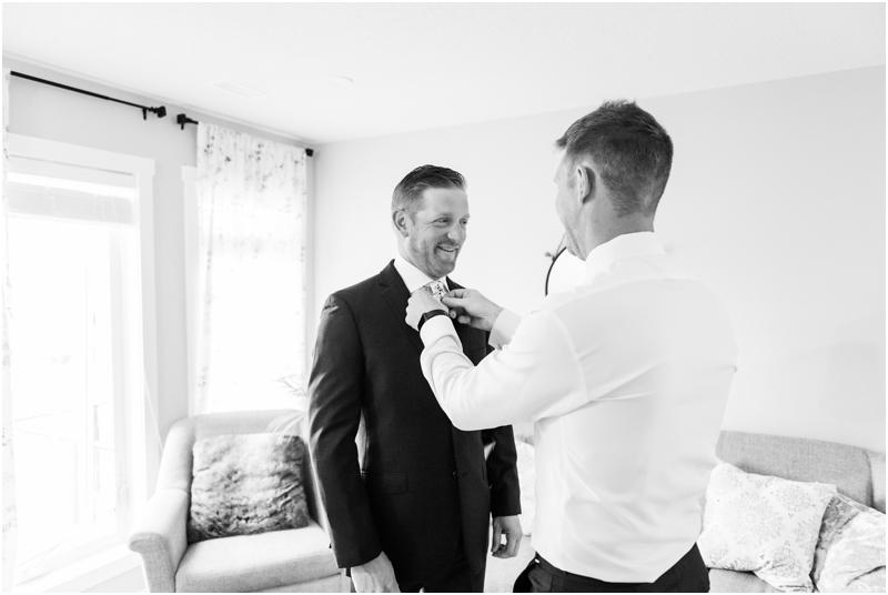 Calgary Groom Prep Wedding Photographer