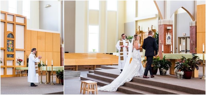 Calgary MacKenzie Towne Church Wedding Ceremony Photos