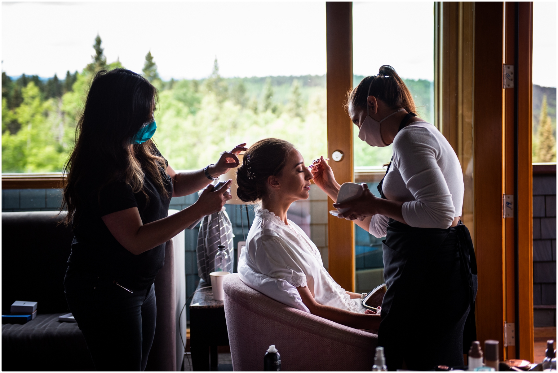 Azuridge Estate Hotel Wedding - Bridal Prep Photo Session
