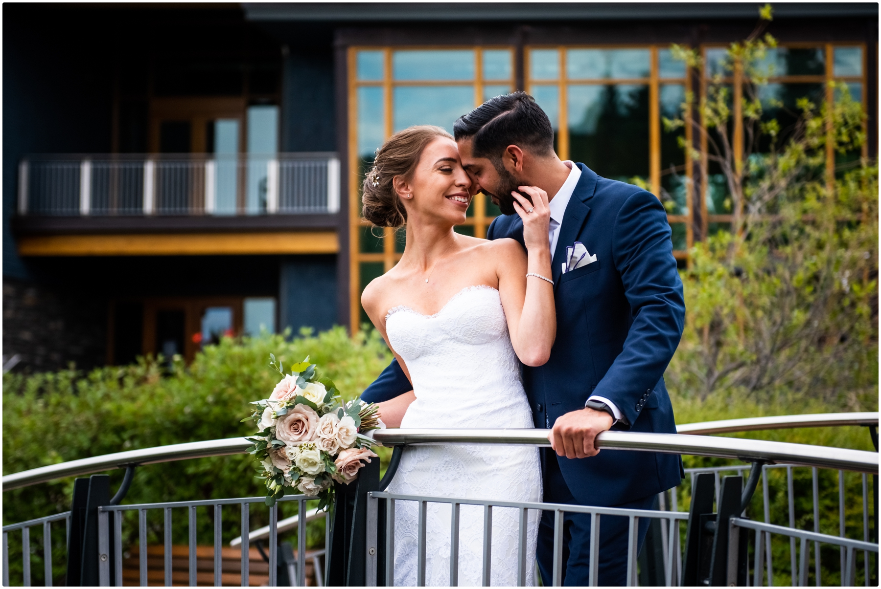 Calgary Azuridge Estate Hotel Wedding - Bride & Groom Portraits