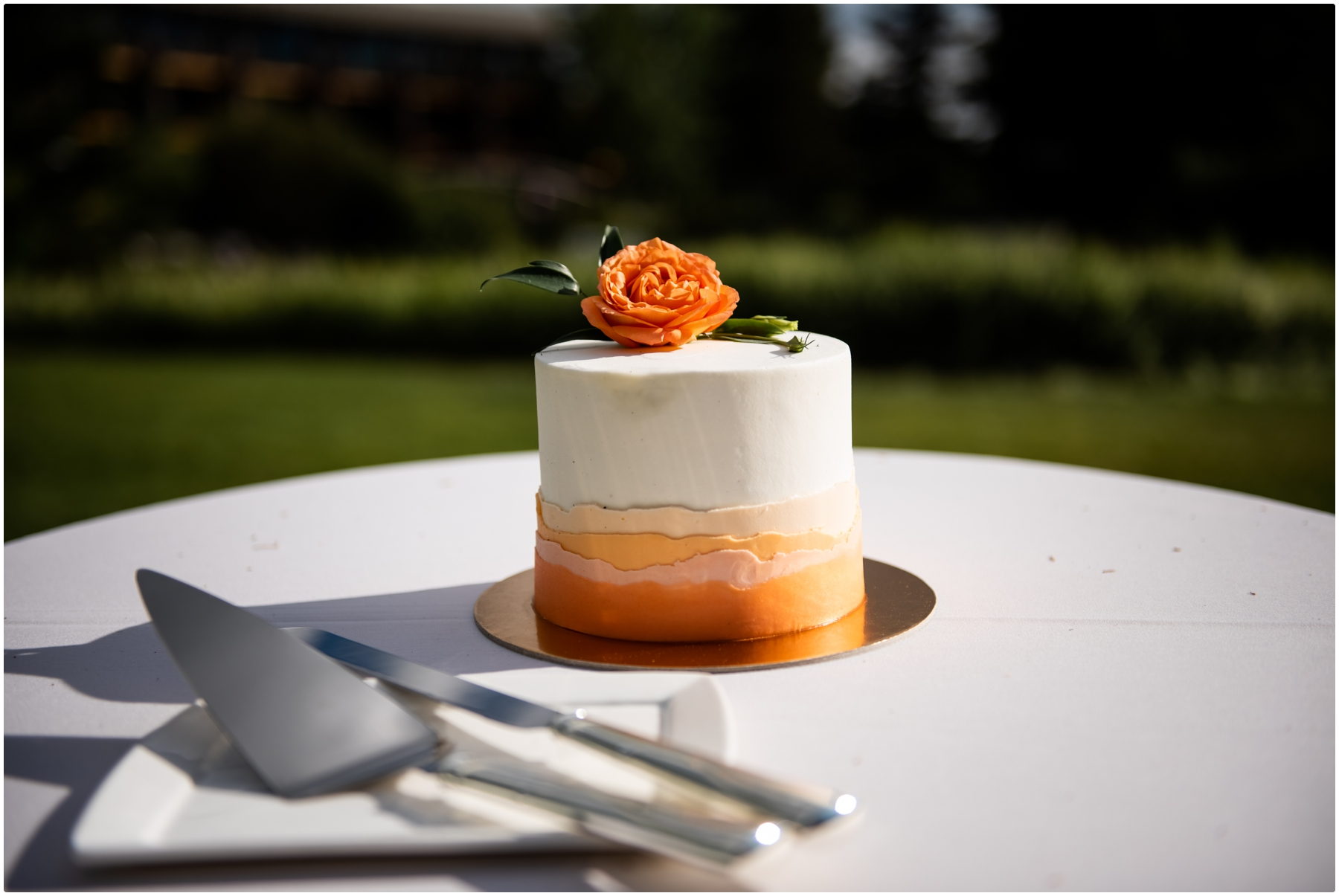 Calgary Azuridge Estate Hotel Wedding -Outdoor Reception Details