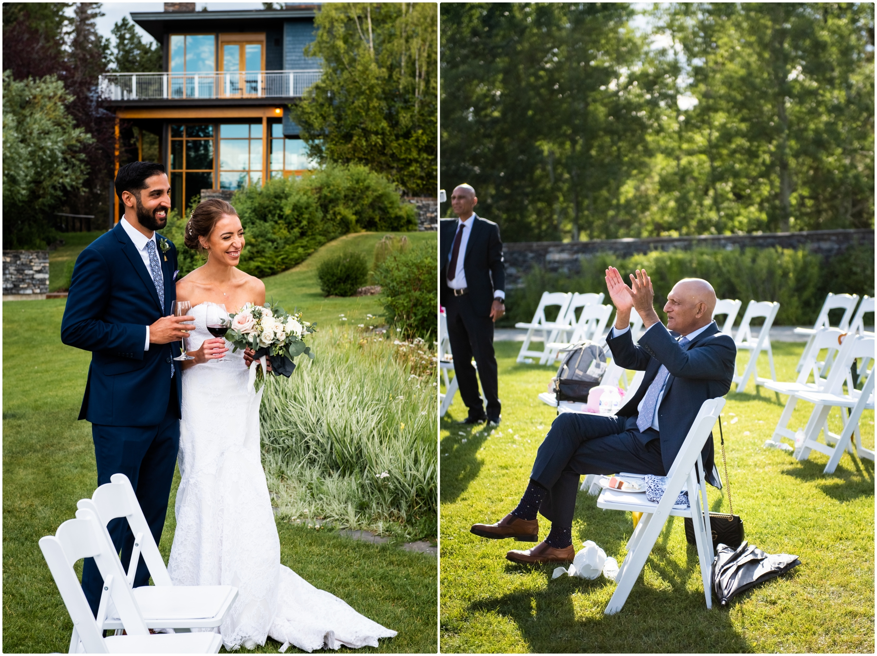 Calgary Azuridge Estate Hotel Wedding -Outdoor Reception Photographers