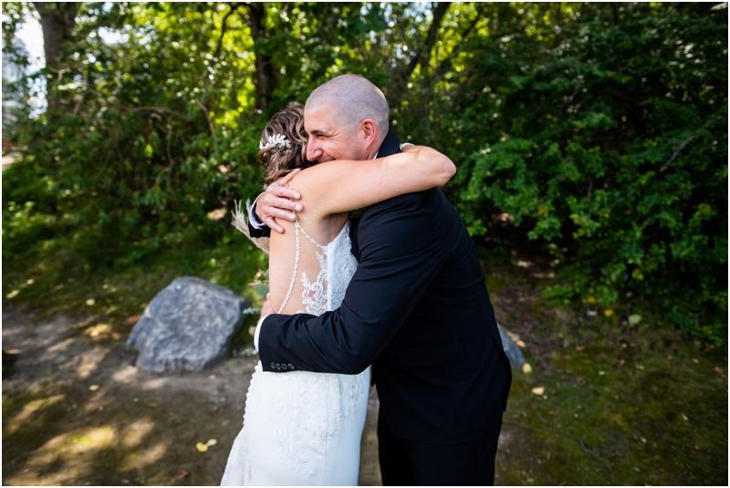 Calgary Wedding Photographer - First Look Prince's Island Park Calgary