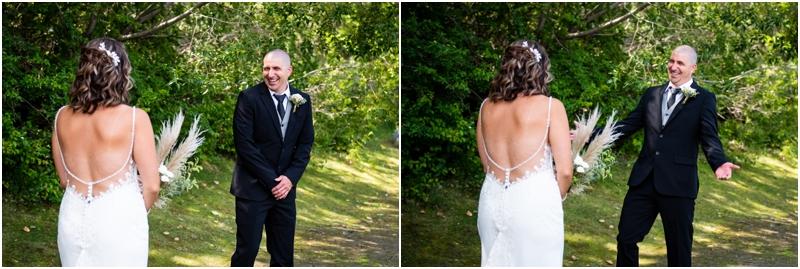 Calgary Wedding Photographer - First Look Prince's Island Park