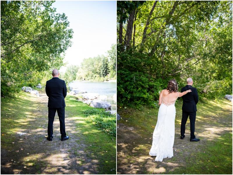 Calgary Wedding Photographer - First Look Sheraton Eau Claire