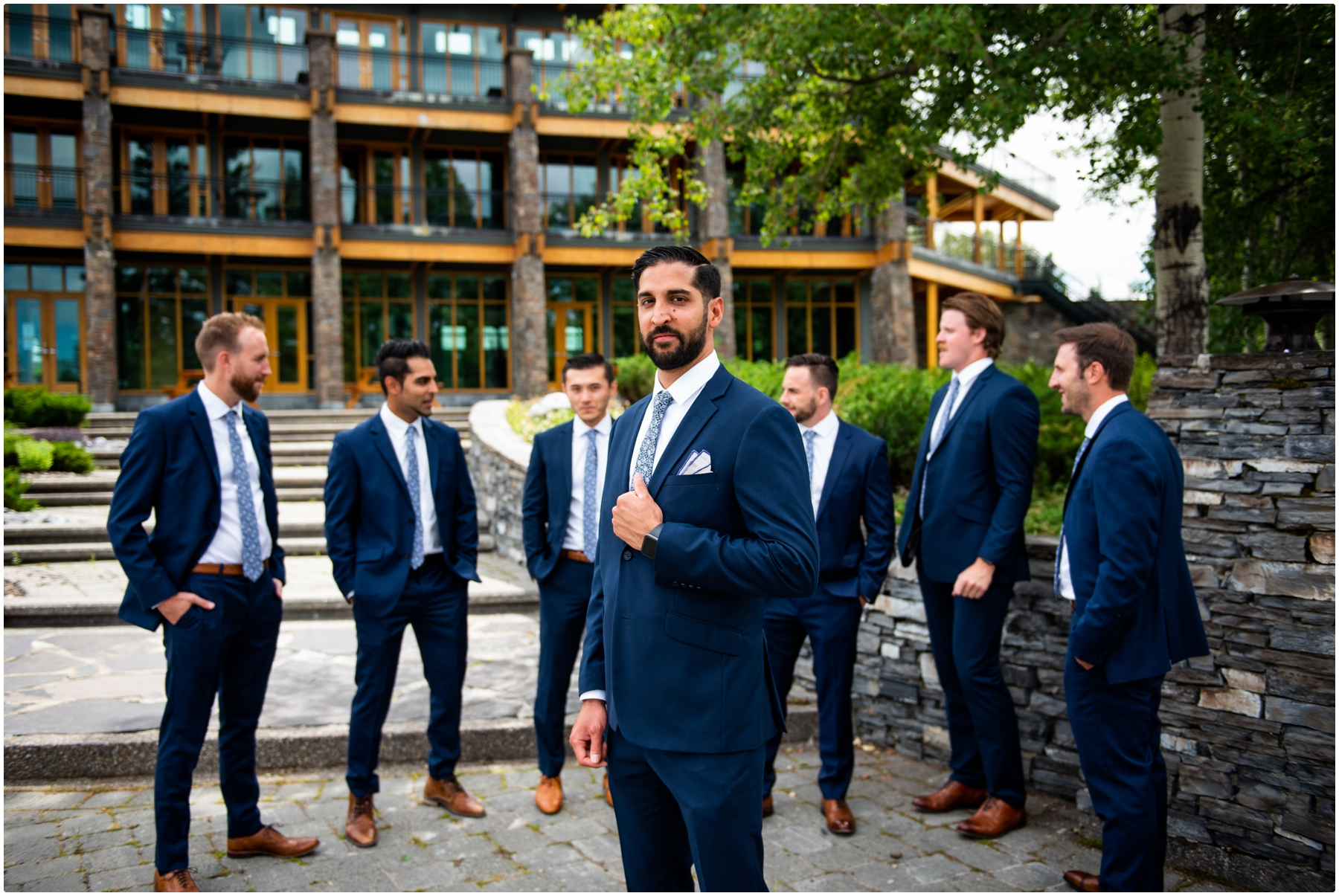 Priddis Azuridge Estate Hotel Wedding - Groomsmen Portrait