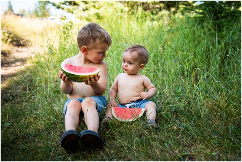 Watermelon Children's Photography - Calgary Family Photographer