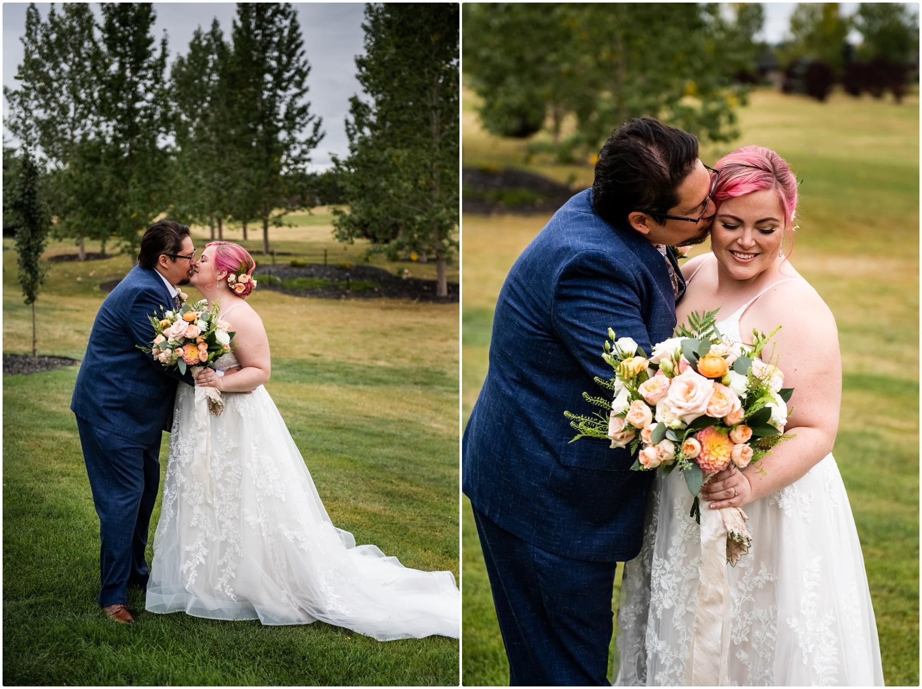 Calgary Alberta Backyard Wedding Photographers