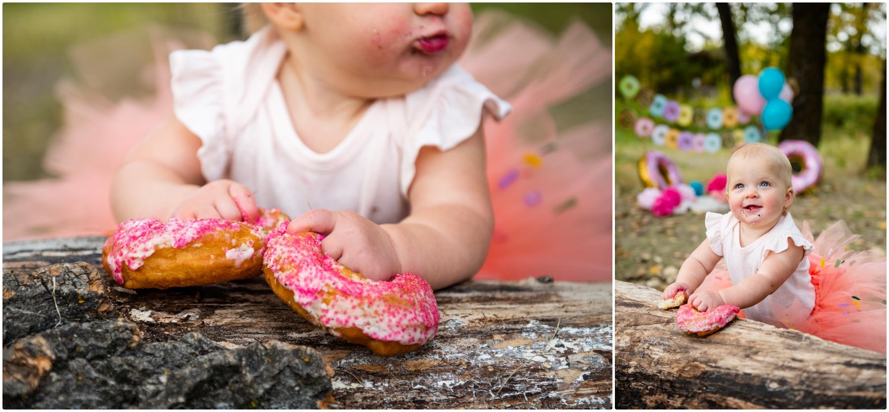Calgary Doughnut Smash 1st Birthday Photography