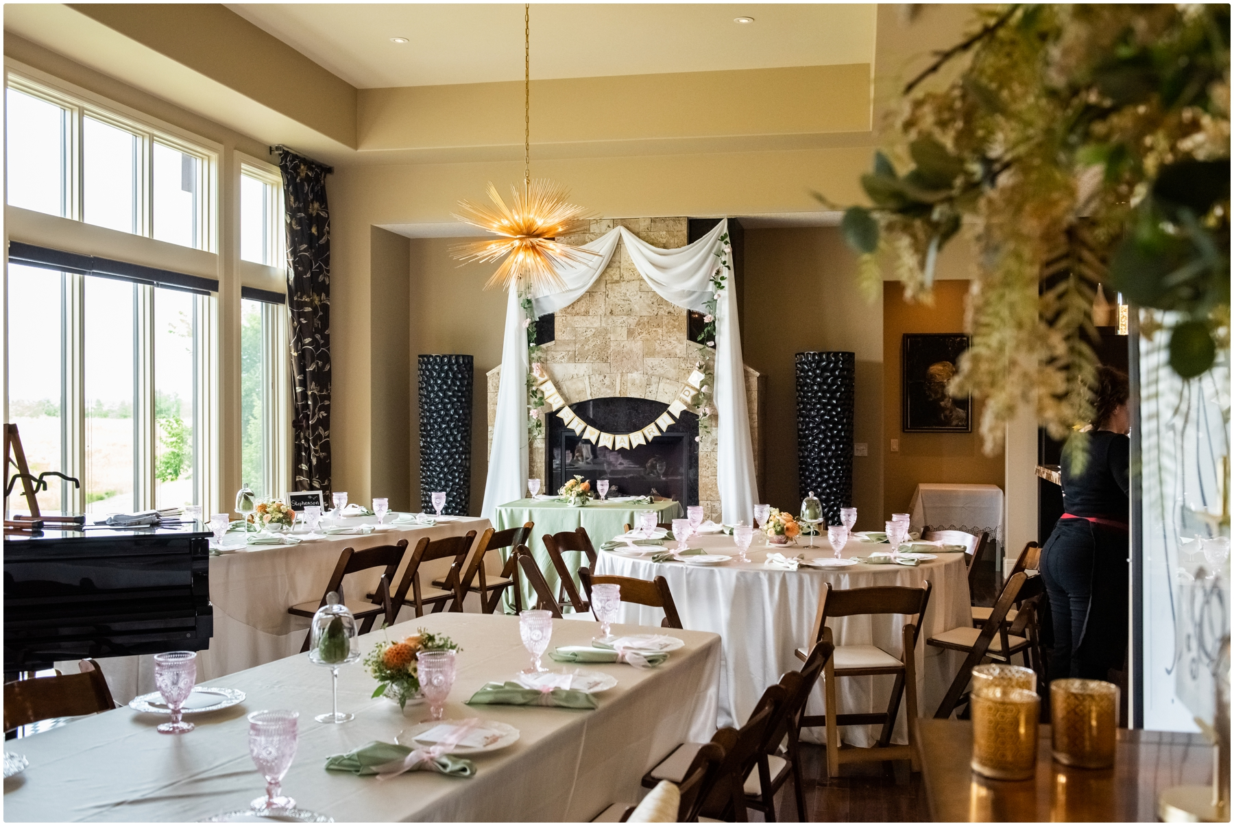 Calgary Garden Party Wedding Recepetion