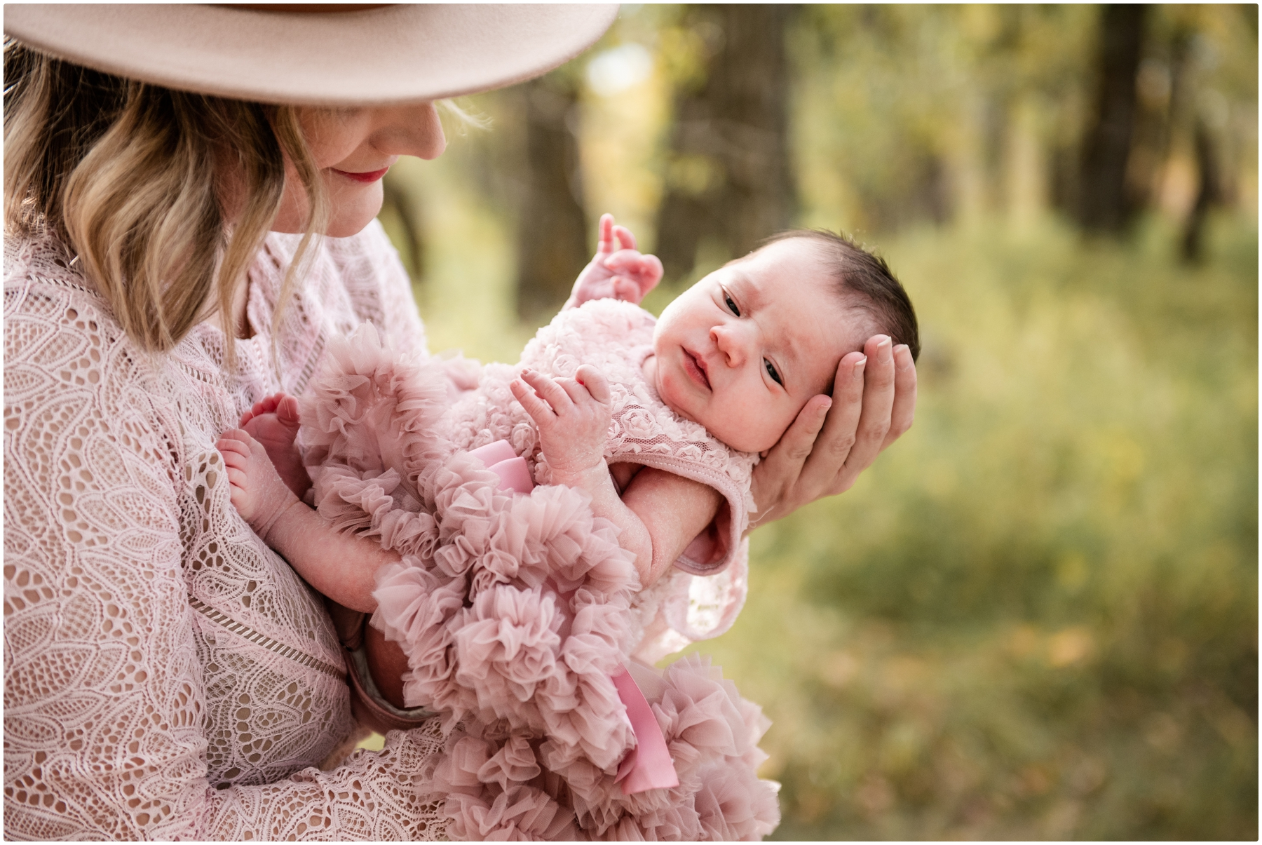 Calgary Outdoor Fall Lifestyle Newborn Session