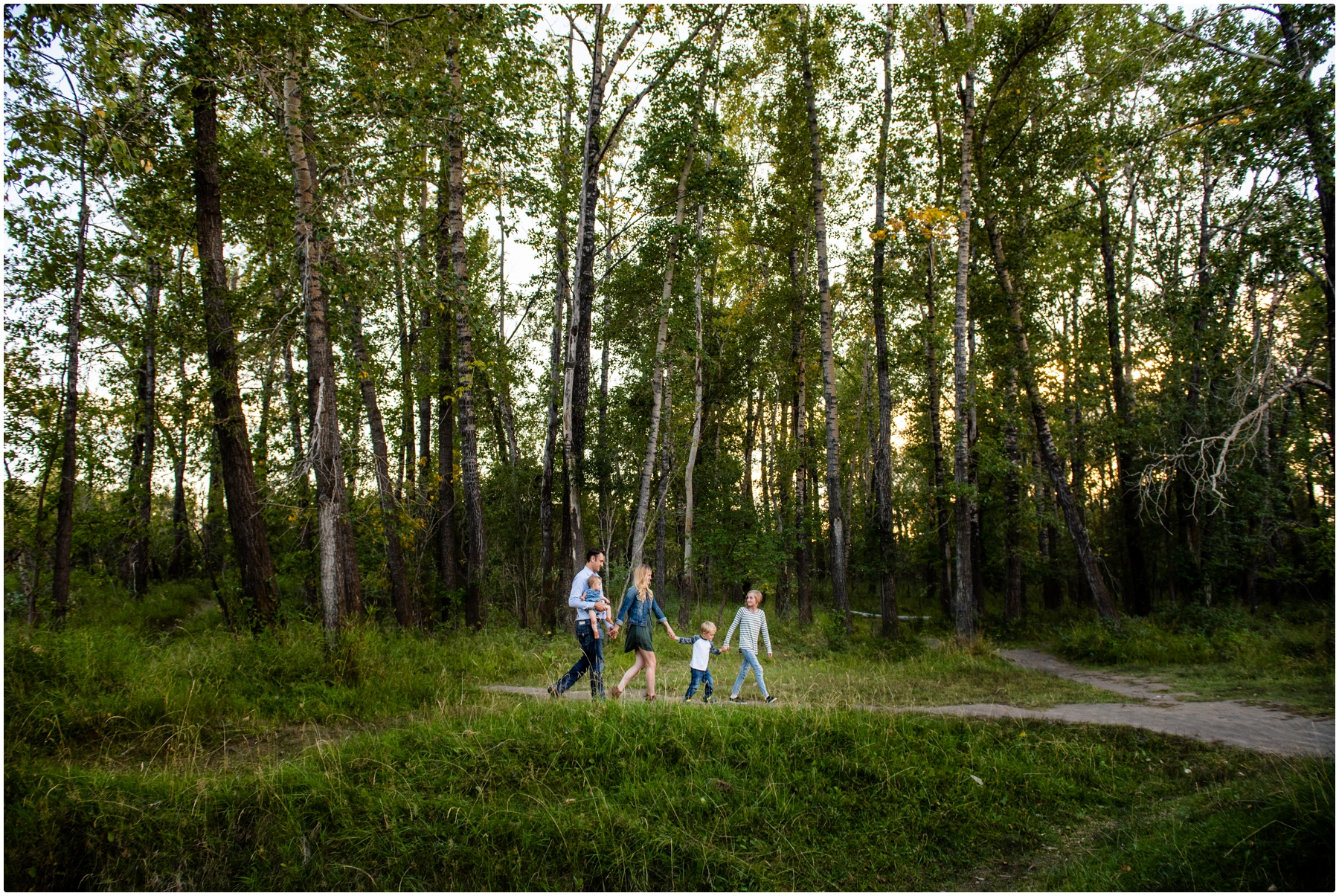Calgary Sunset Carburn Park Family Photographers