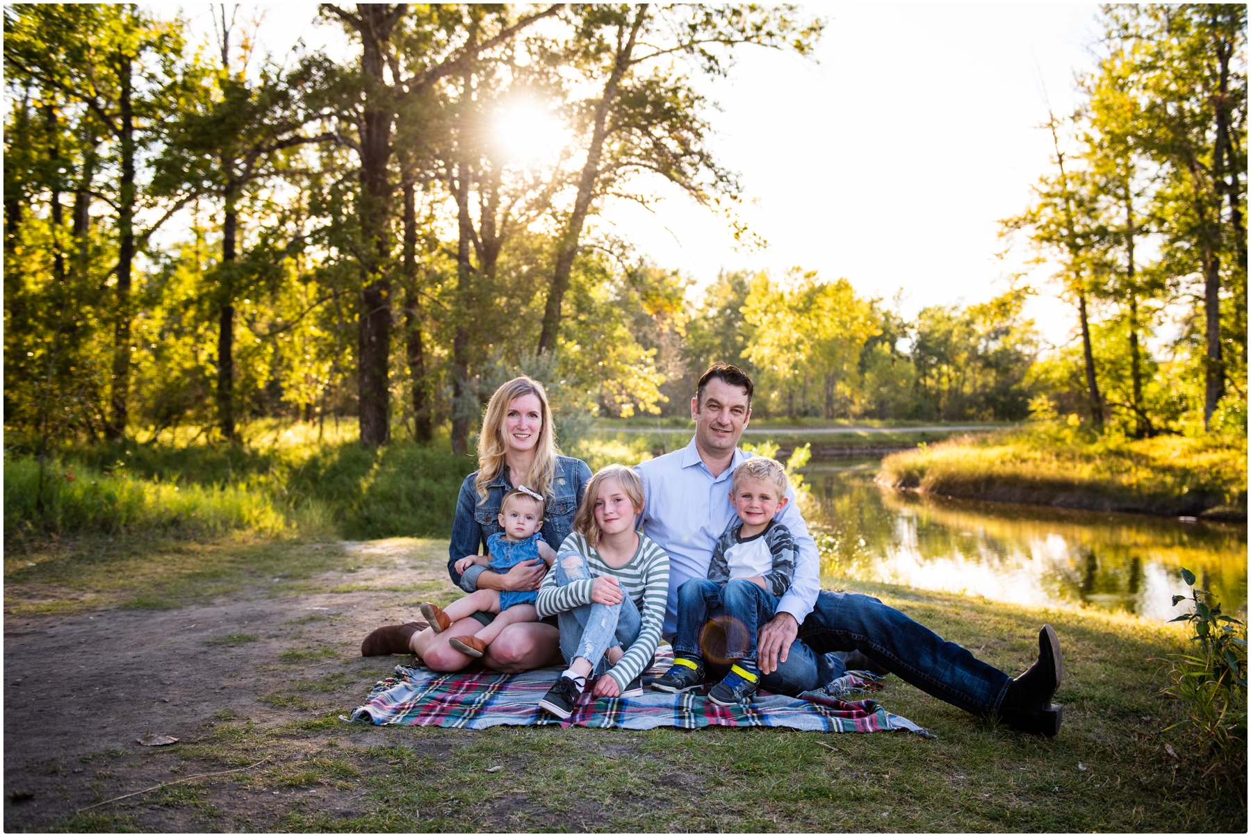 Calgary Sunset Carburn Park Family Photos