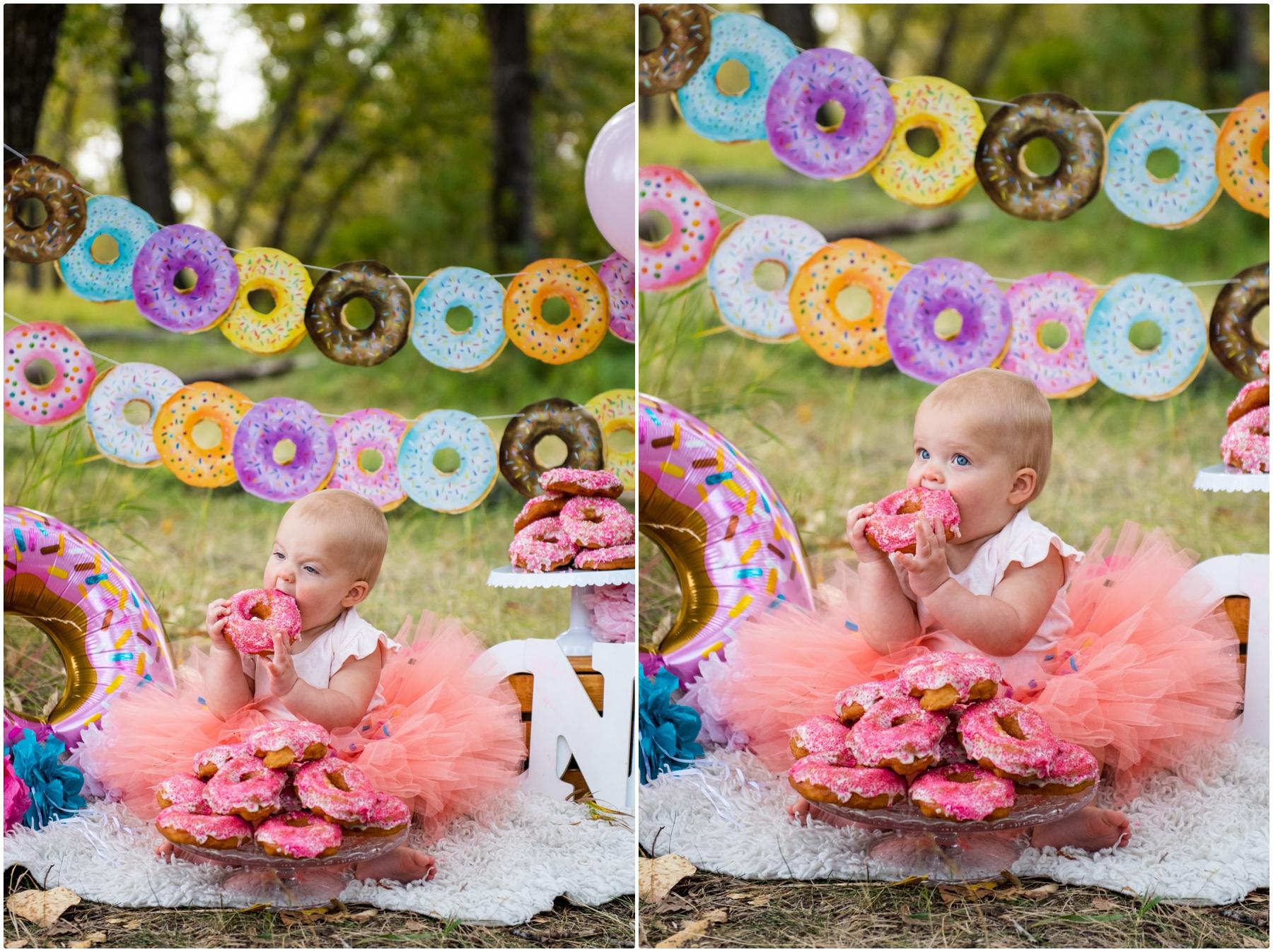 Doughnut Smash First Birthday Photographers- Calgary Alberta