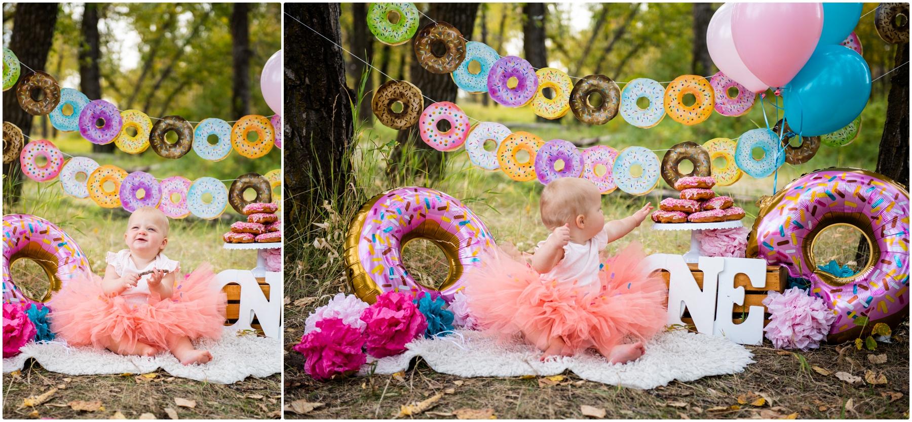 Doughnut Smash First Birthday Photos- Calgary Alberta
