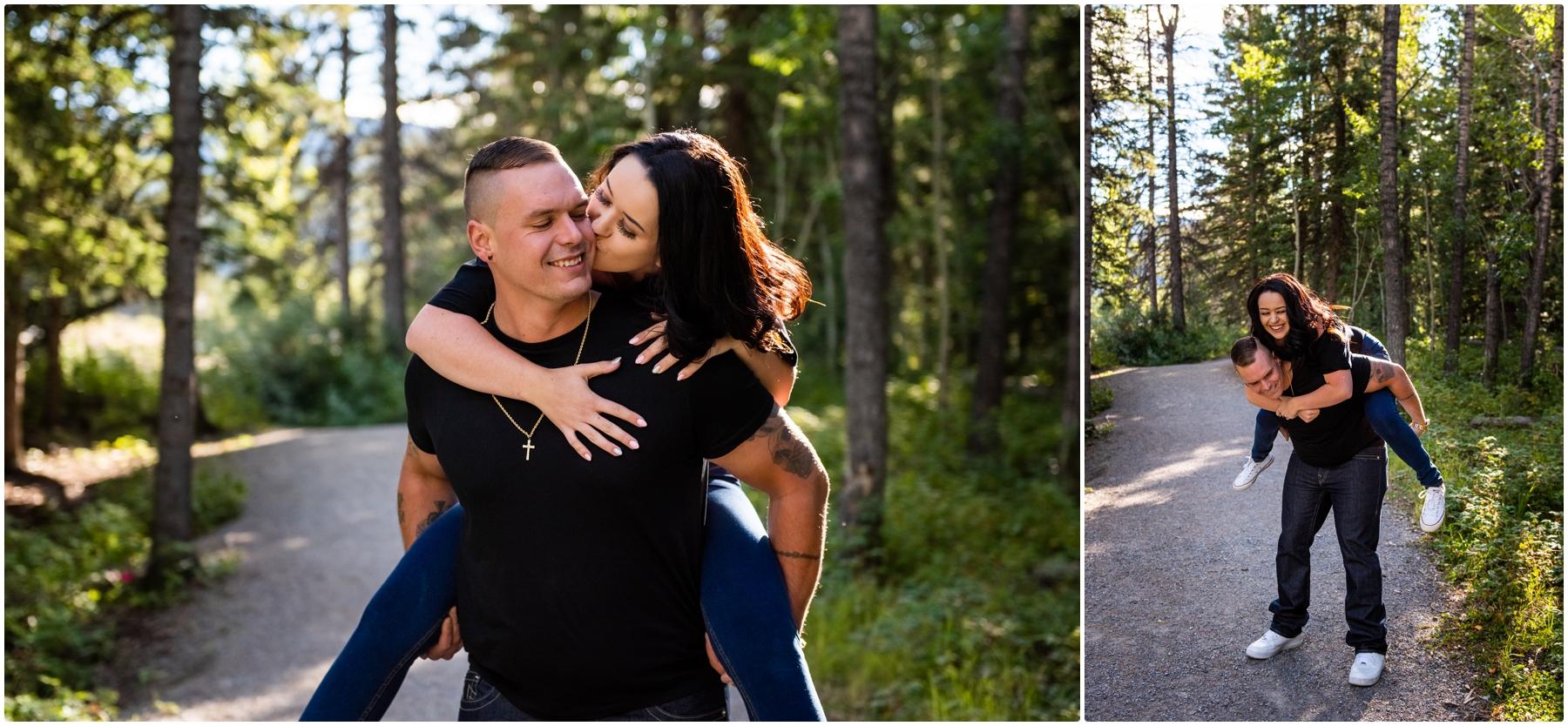 Elbow Falls Engagement Photographers