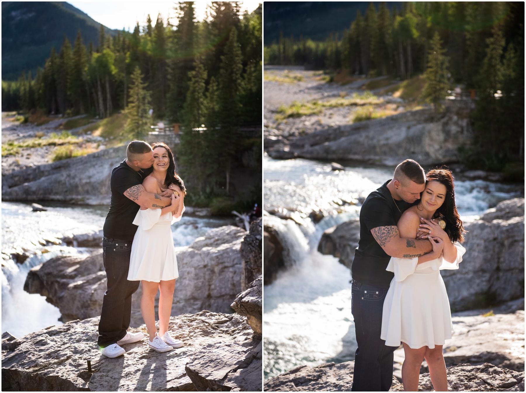 Elbow Falls Engagement Photos - Calgary Wedding Photographer