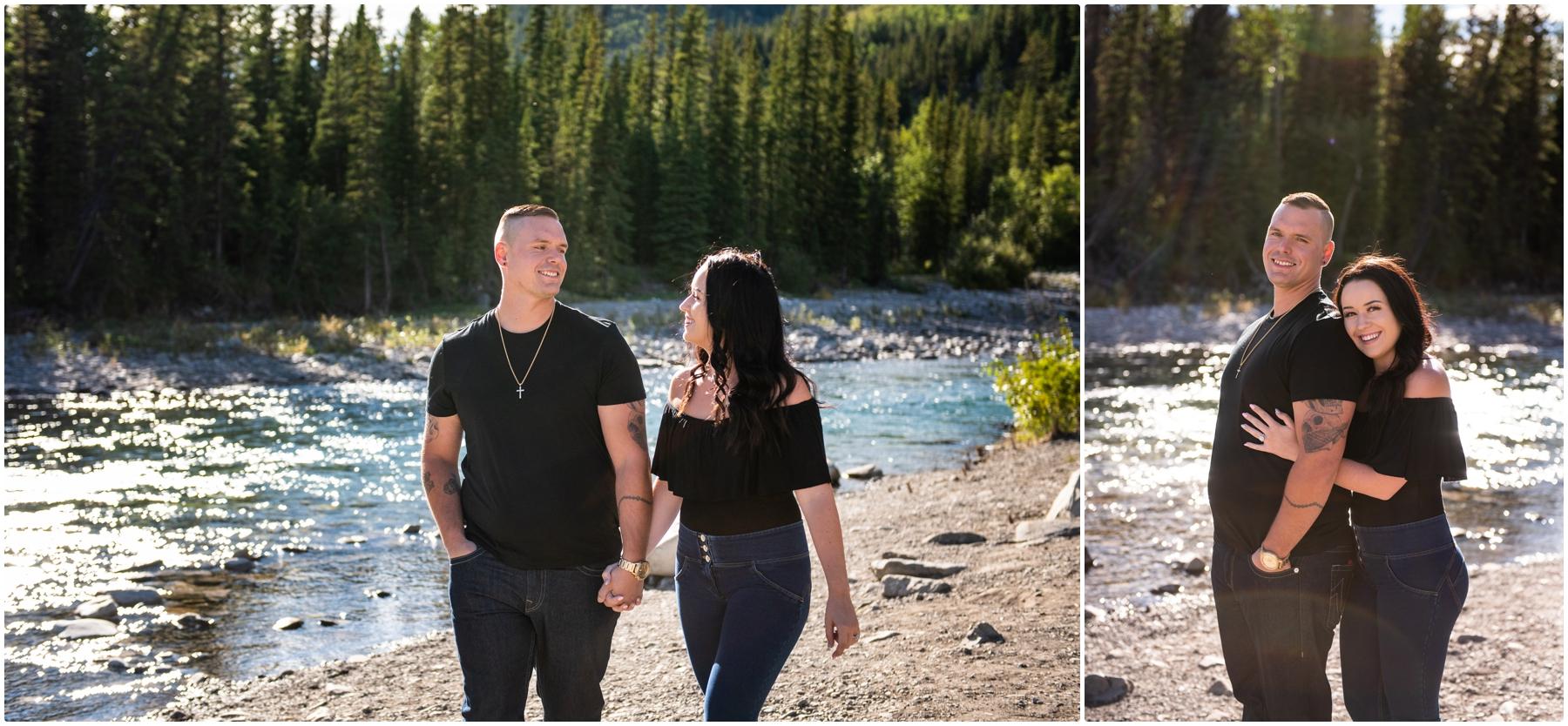 Elbow Falls Engagement Photos
