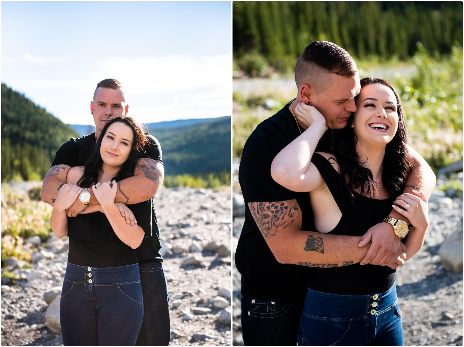 Kananaskis Elbow Falls Engagement Photographer