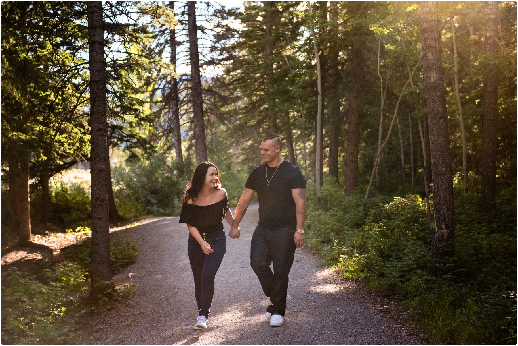 Kananaskis Elbow Falls Engagement Photos