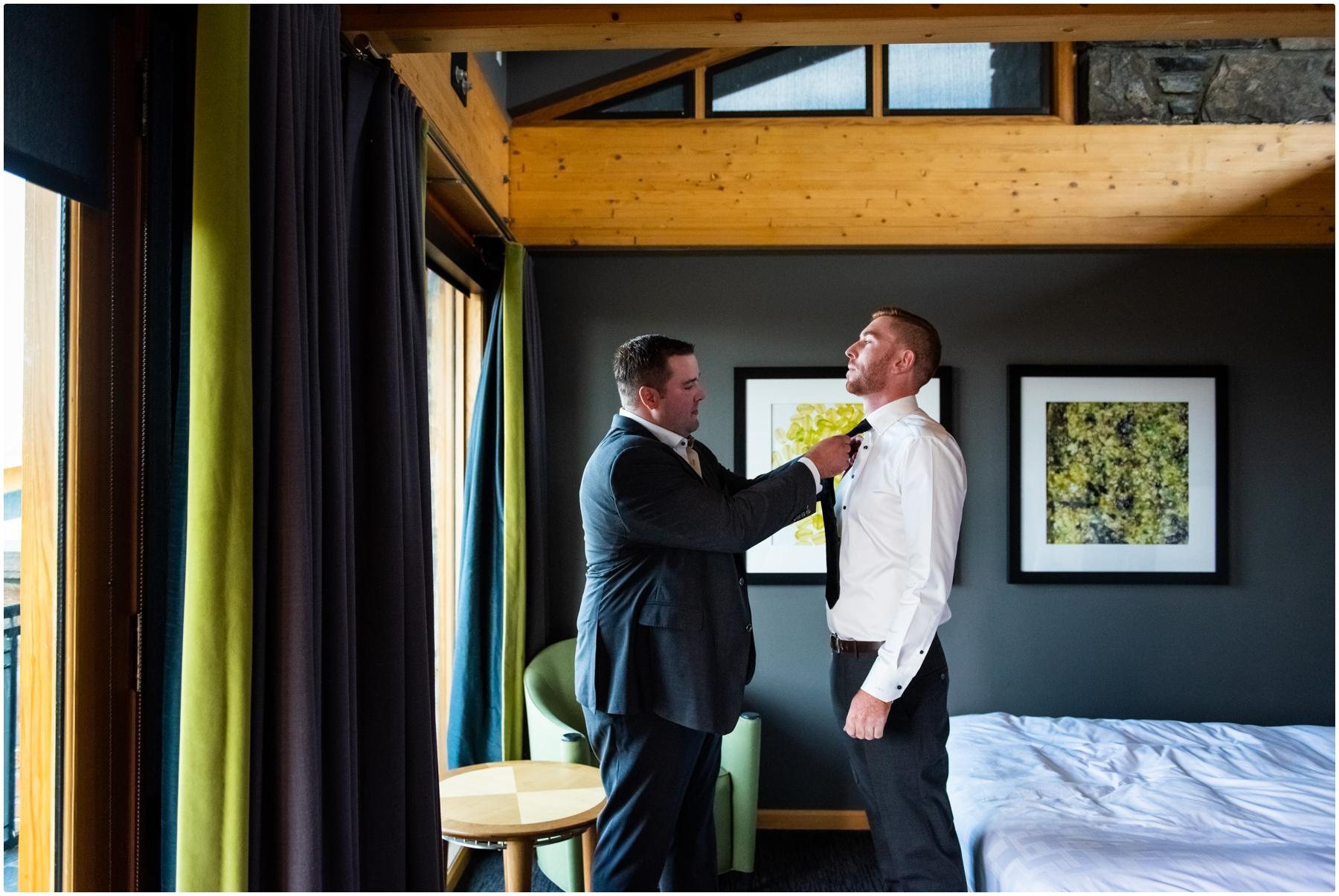 Autumn Azuridge Estate Hotel Groom Prep Photos - Azuridge Estate Hotel