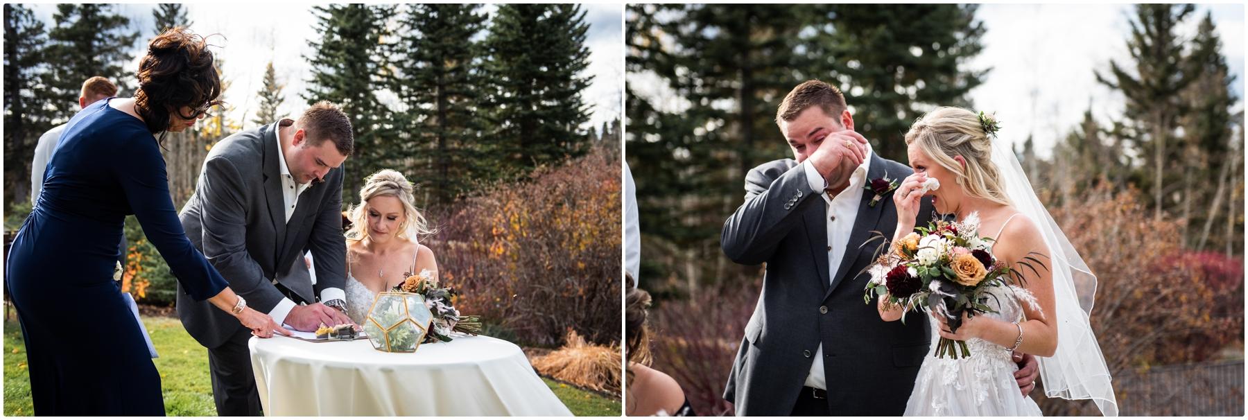 Autumn Azuridge Estate Hotel Wedding Outdoor Ceremony Photographer
