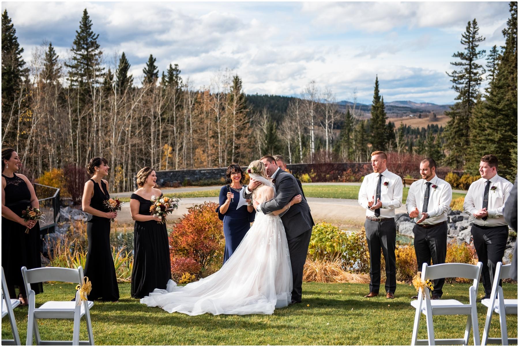 Autumn Azuridge Estate Hotel Wedding Outdoor Ceremony Photographers
