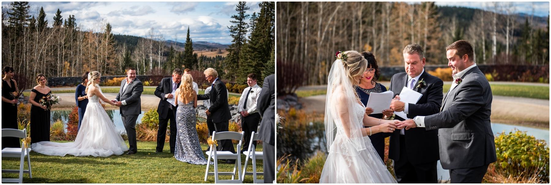 Autumn Azuridge Estate Hotel Wedding Outdoor Ceremony Photography