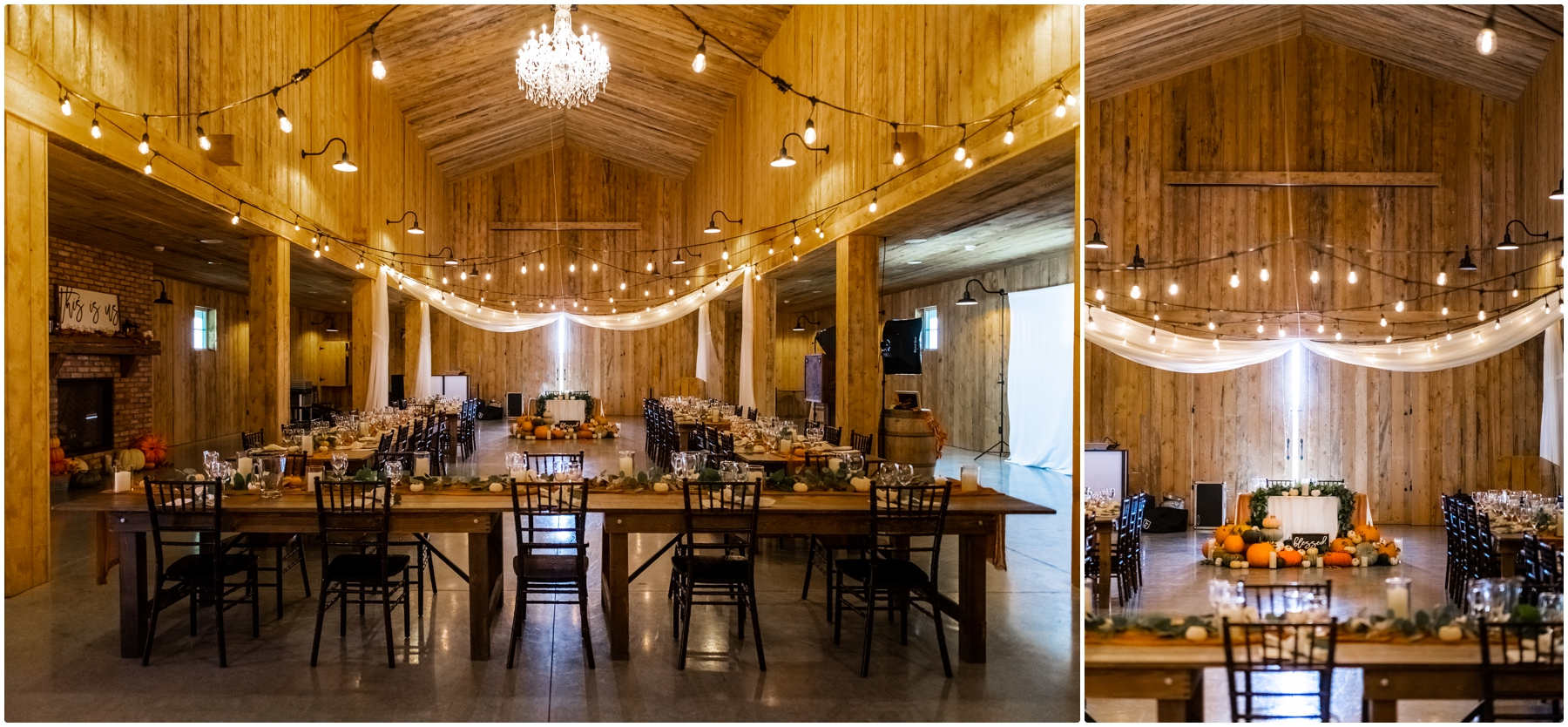 Autumn Barn Wedding Reception Photographer- Sweet Haven Barn