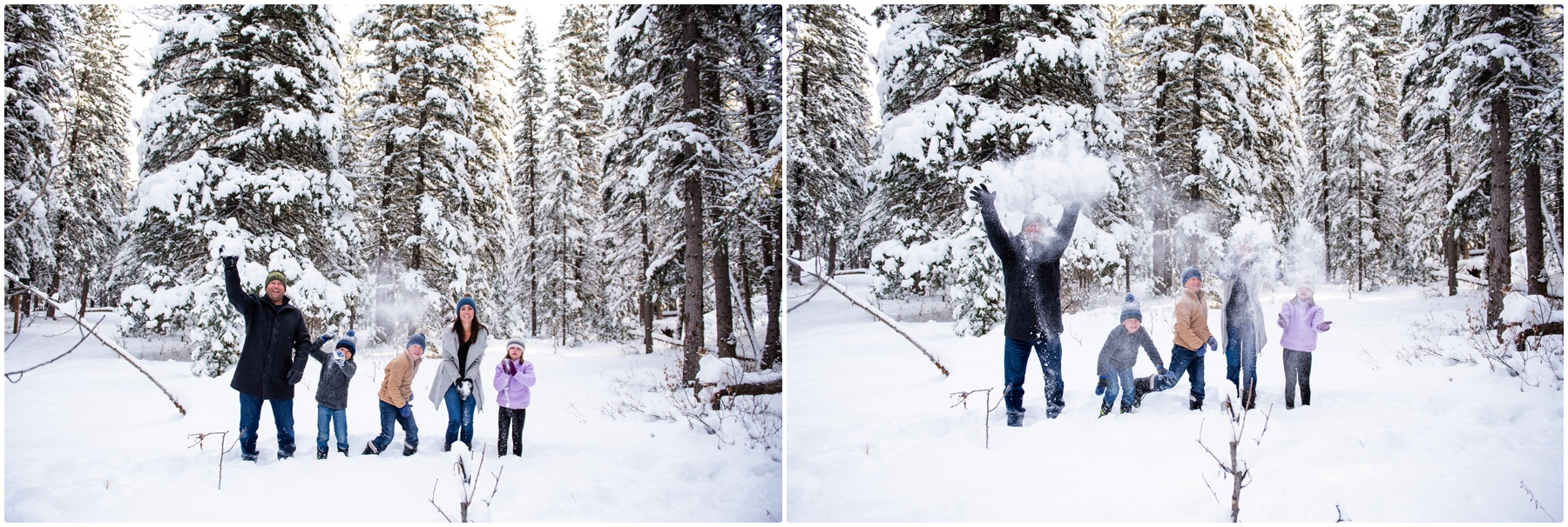 Bragg Creek Provinical Park Winter Family Photography Session