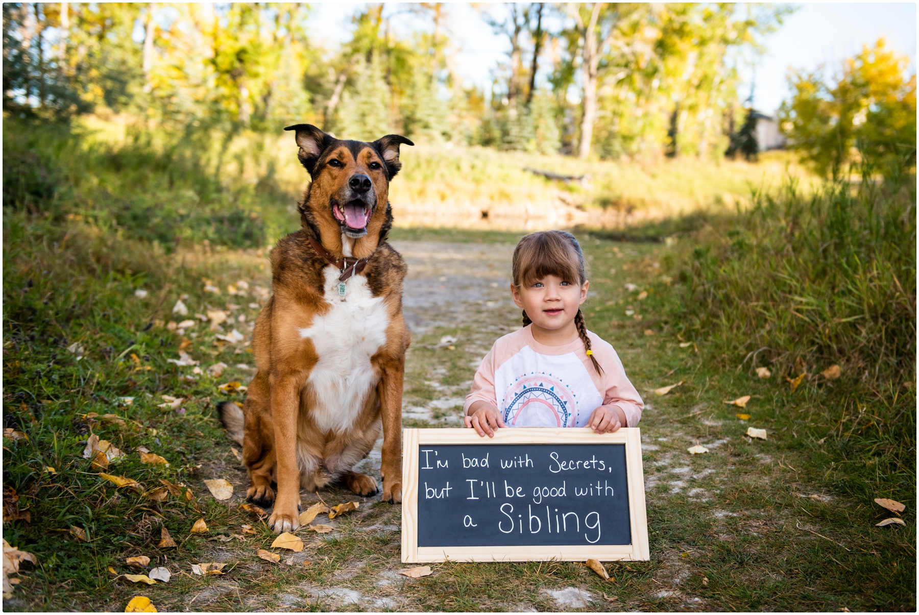 Calgary Fall Baby Announcement Photography