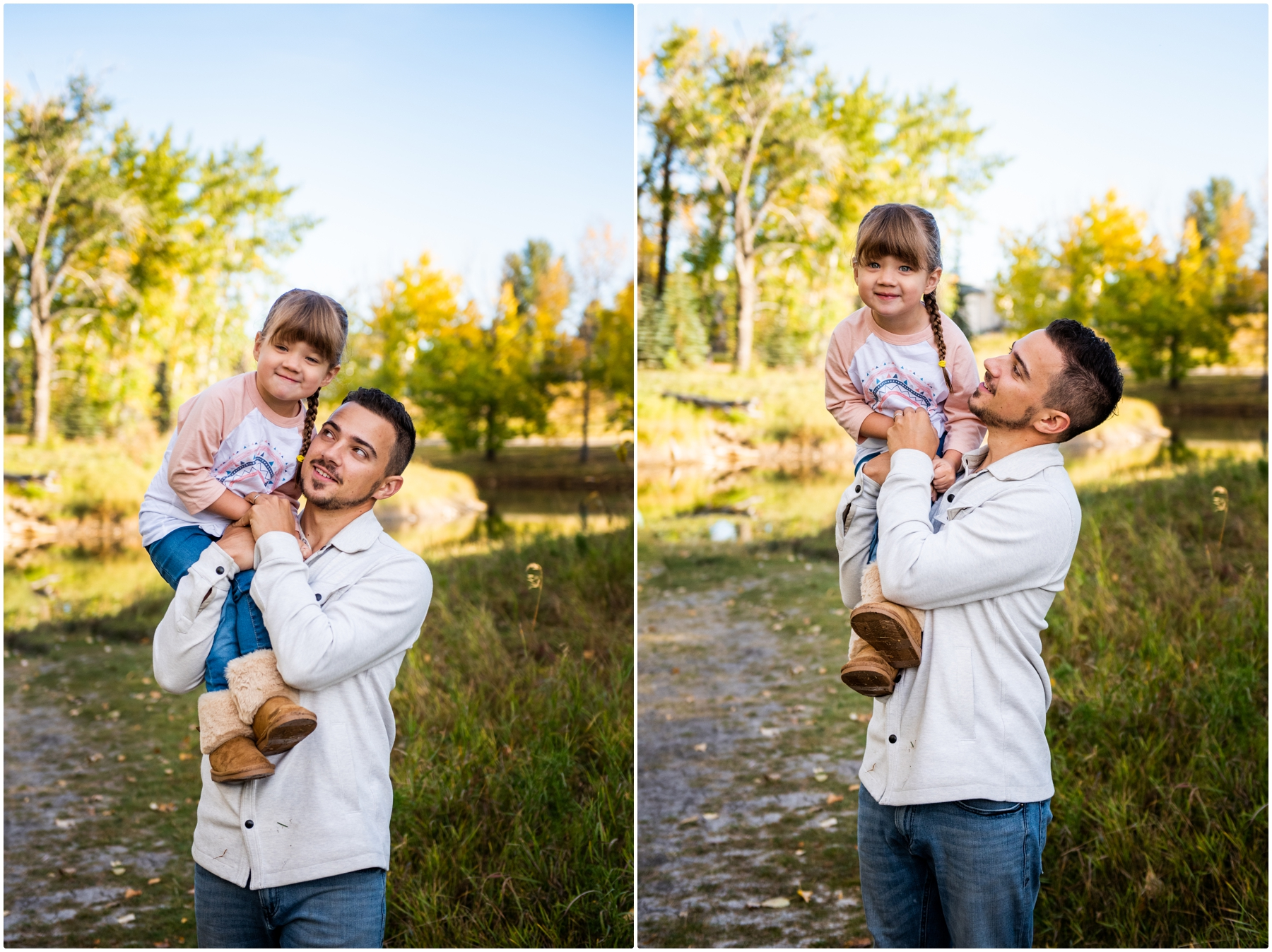 Calgary Fall Baby Announcement Photos