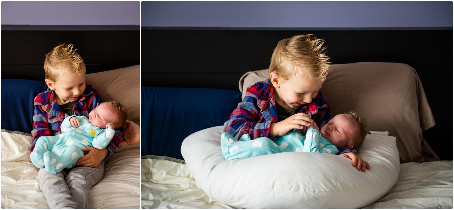 Calgary Family At Home Newborn Photos