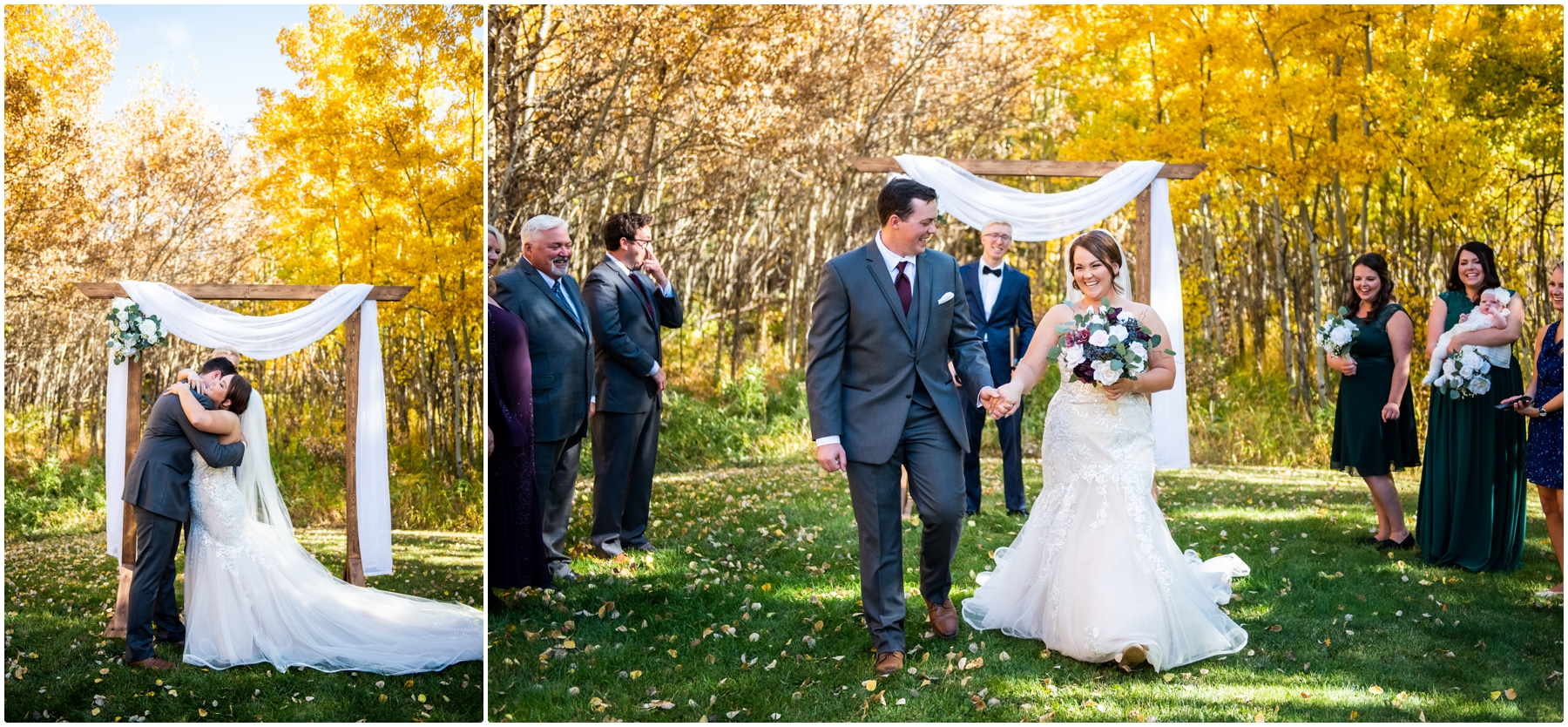 Calgary Mansion Backyard Wedding Ceremony Photographer