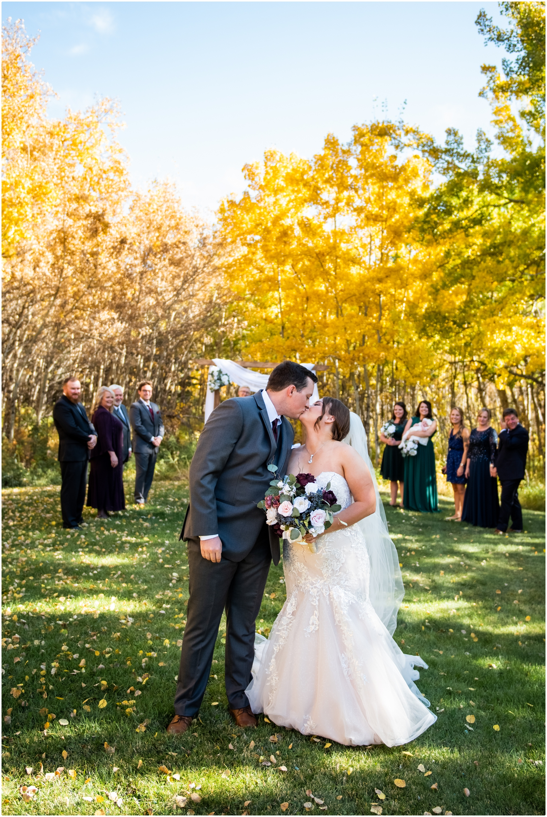 Calgary Mansion Backyard Wedding Ceremony Photographers