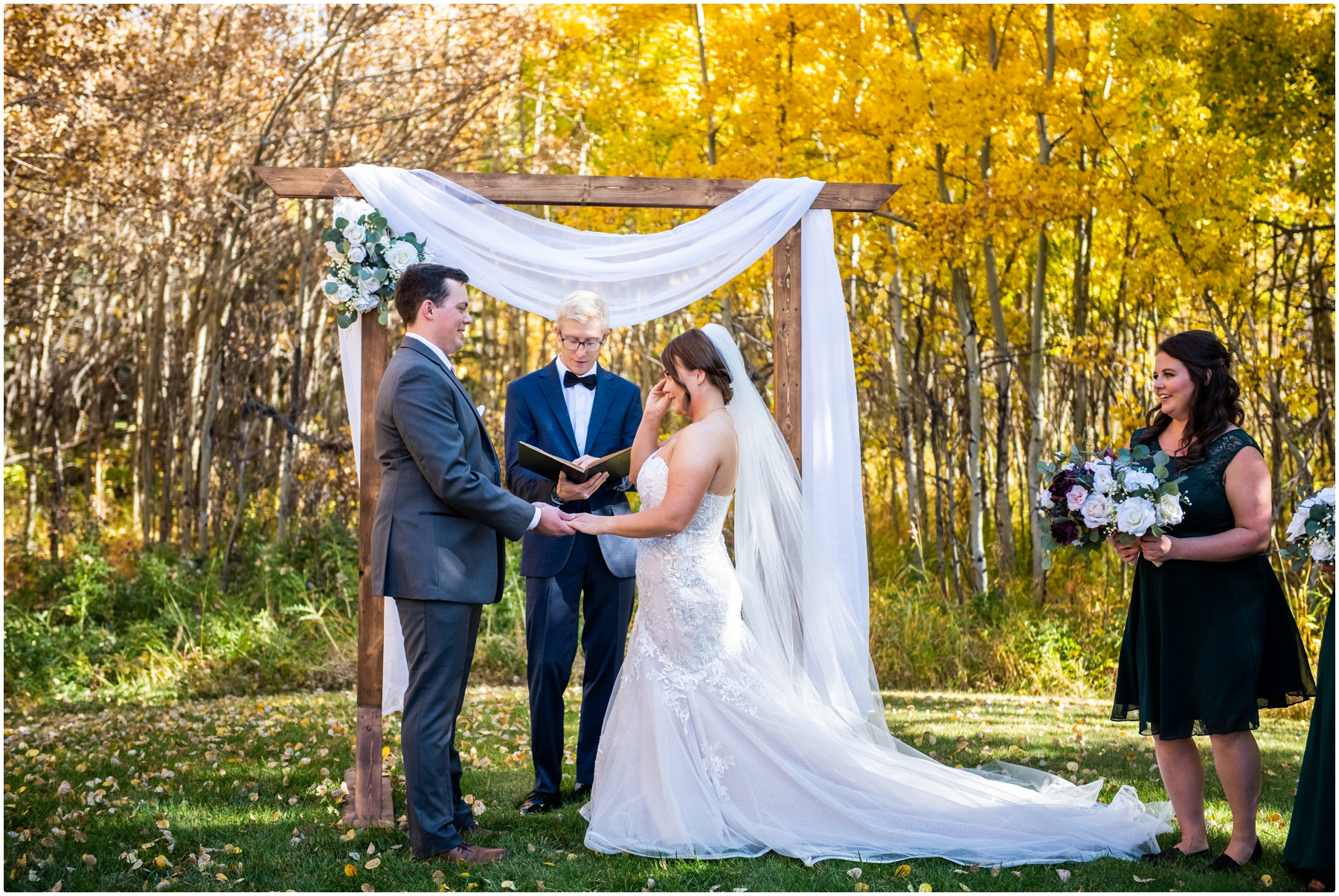 Calgary Mansion Backyard Wedding Ceremony