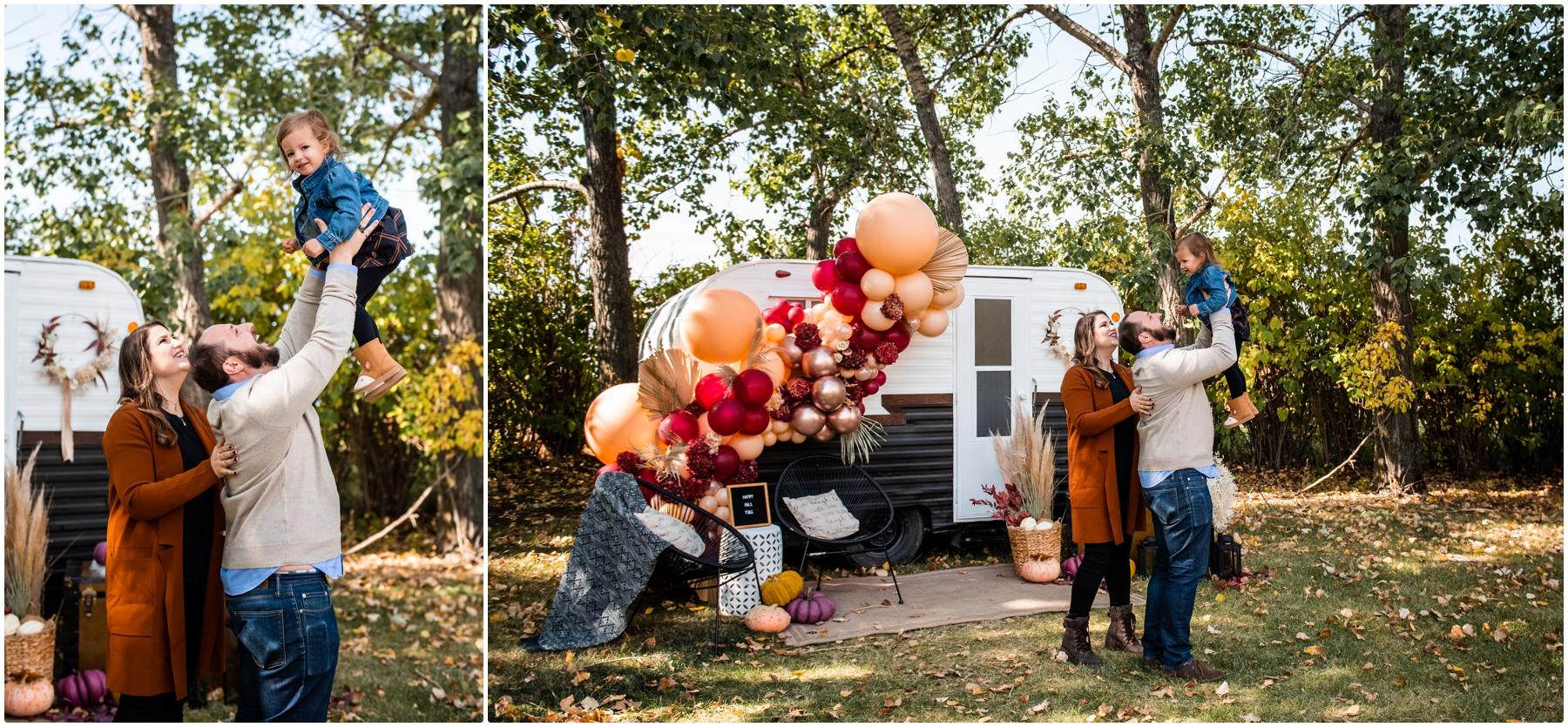 Calgary Mini Session Photography - Autumn Happy Camper