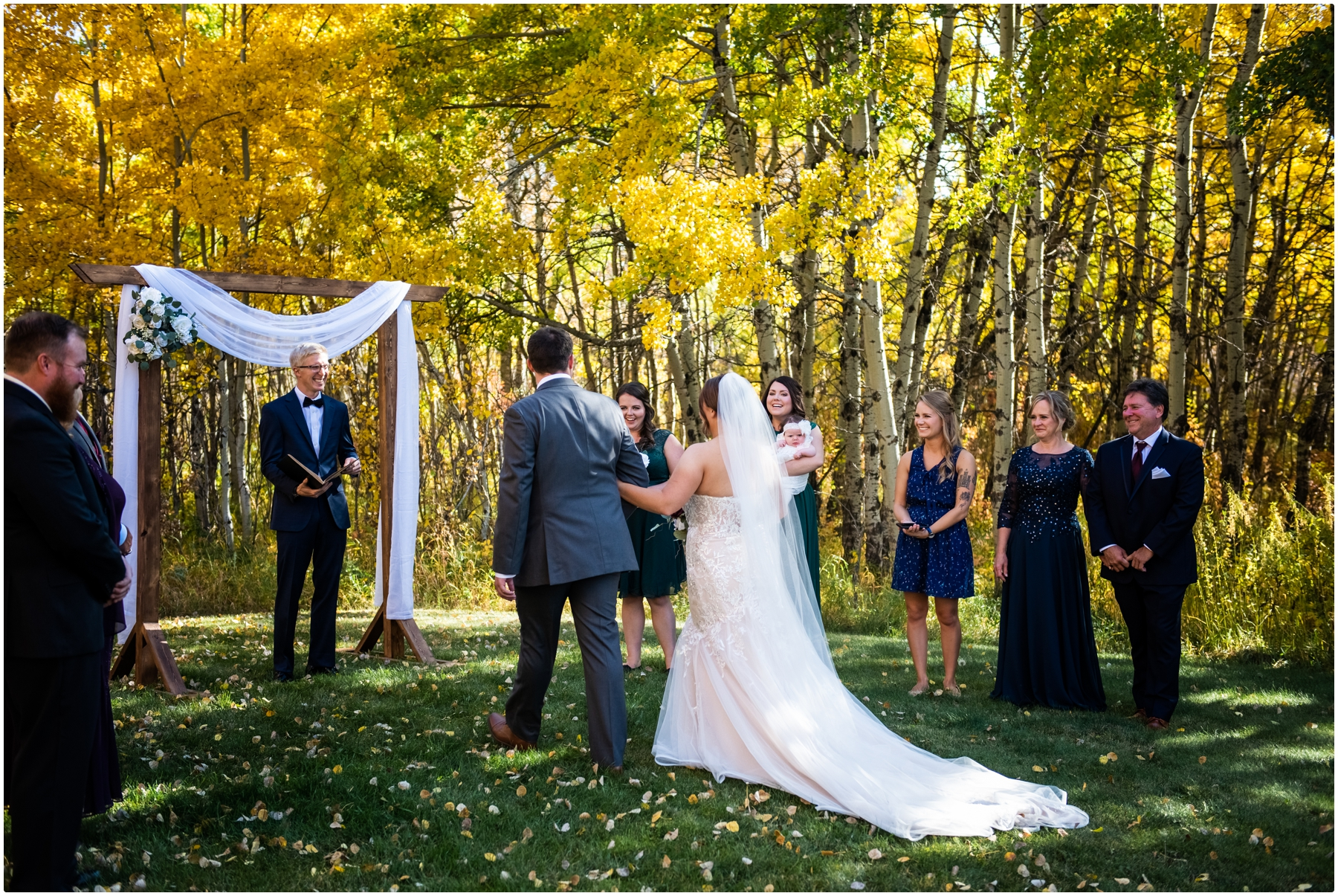 Cochrane Mansion Backyard Wedding Ceremony Photography