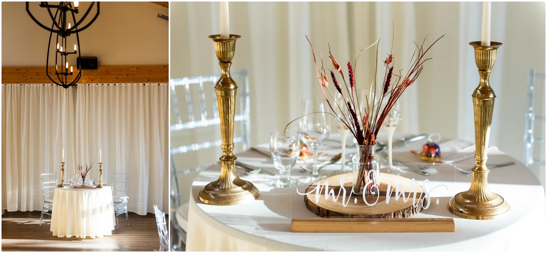 Fall Azuridge Wedding - Wedding Reception Detail Photos