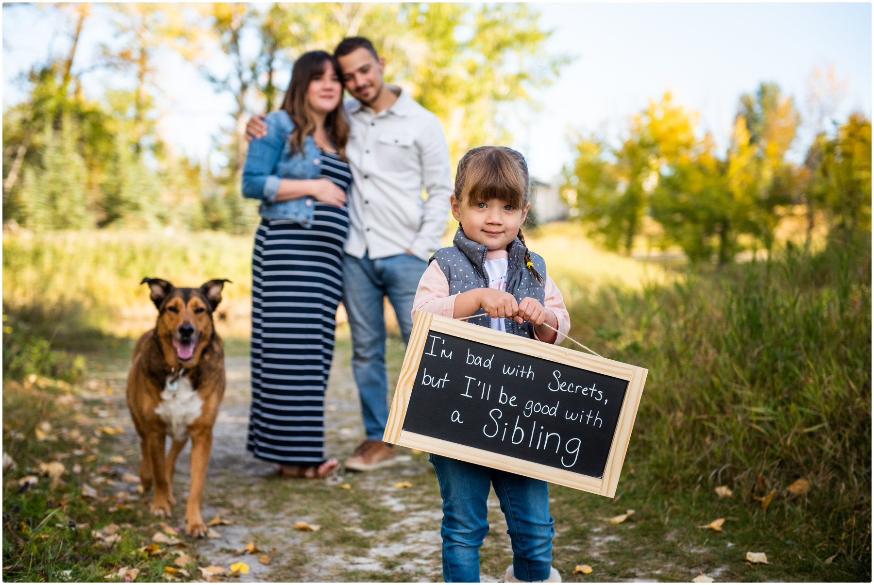 Fall Baby Announcement Photos Calgary