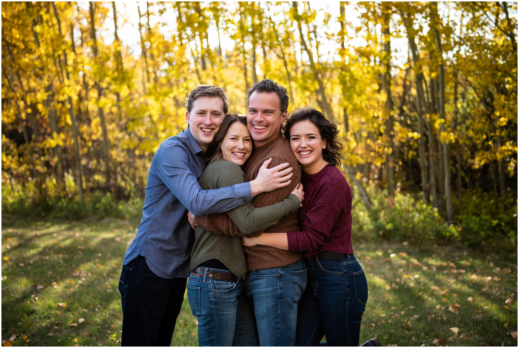 Fall Springbank Family Photographer