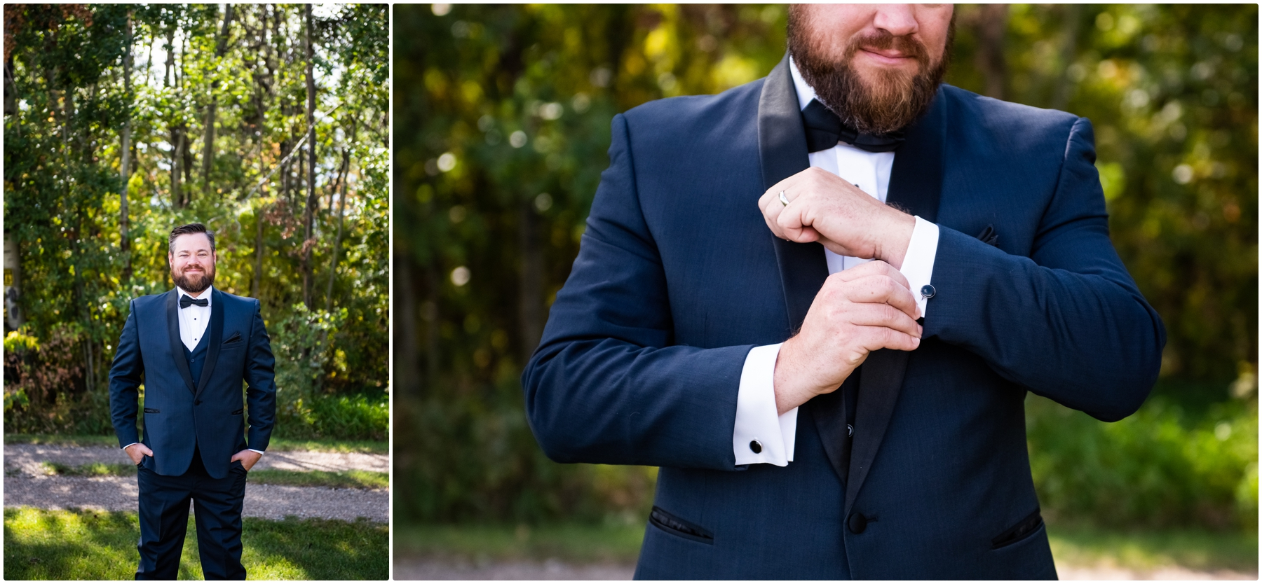 Groom Portraits - Sweet Haven Barn