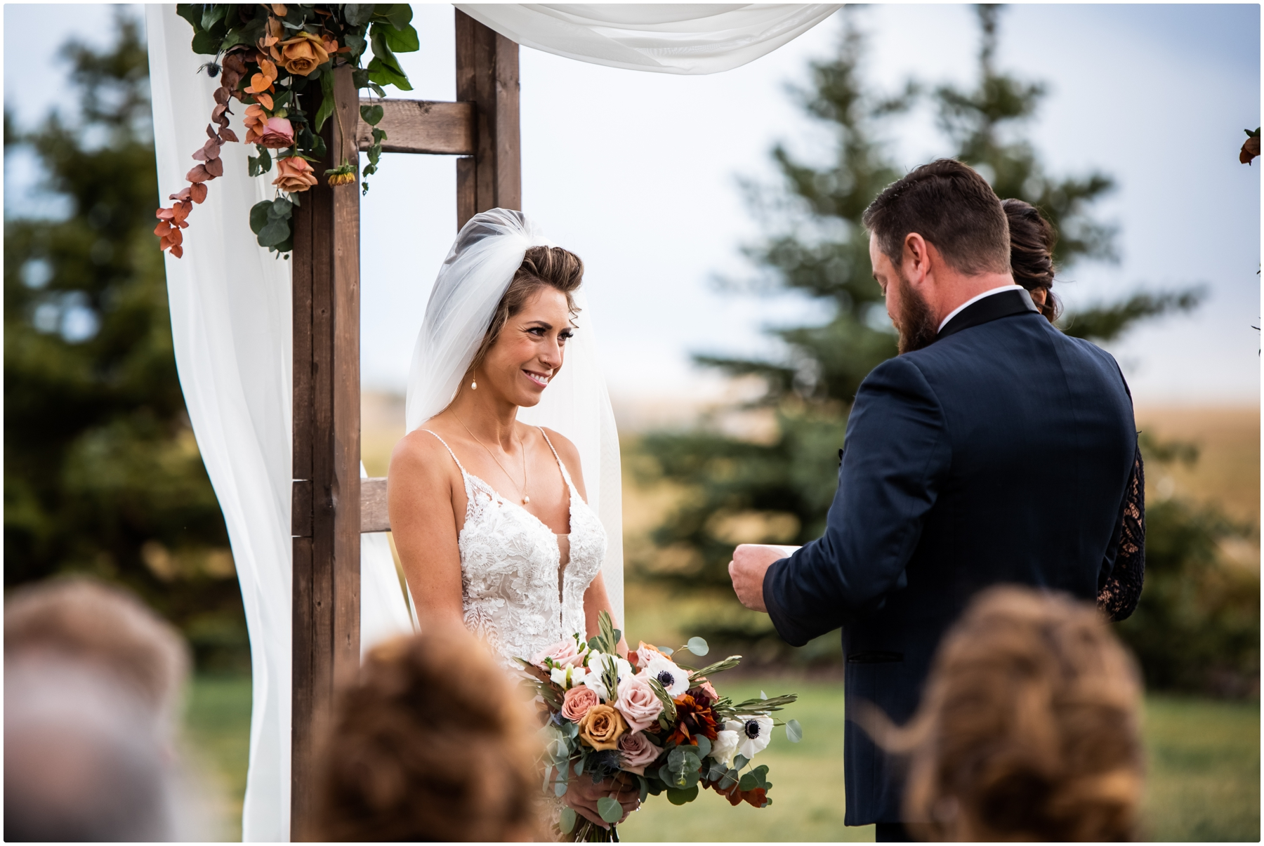 Outdoor Barn Wedding Ceremony Photographer- Sweet Haven Barn
