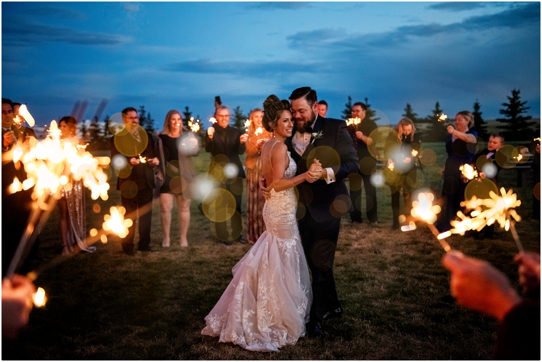 Sparkler First Dance Photography- Sweet Haven Barn