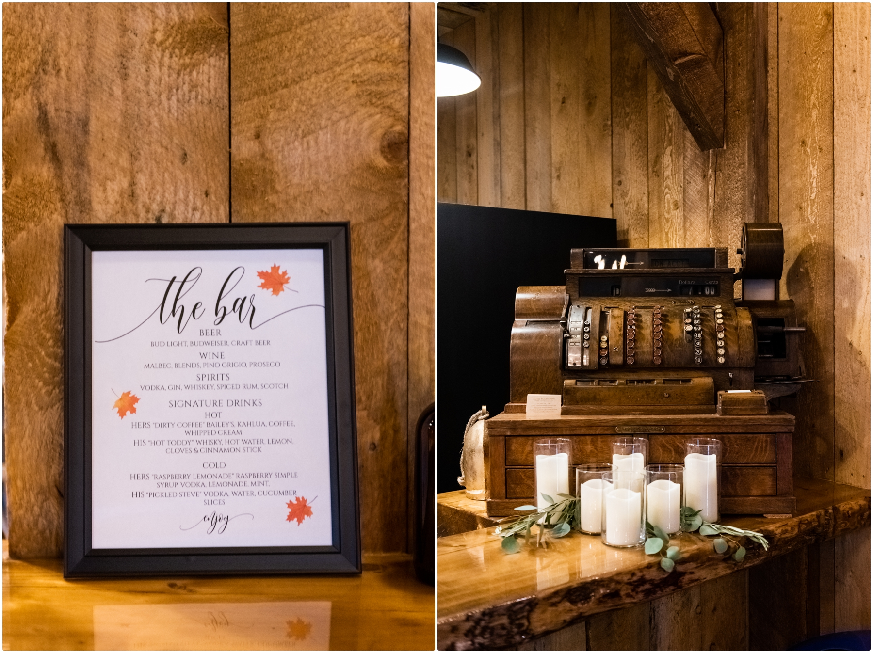 Sweet Haven Barn- Autumn Barn Wedding Reception Photos
