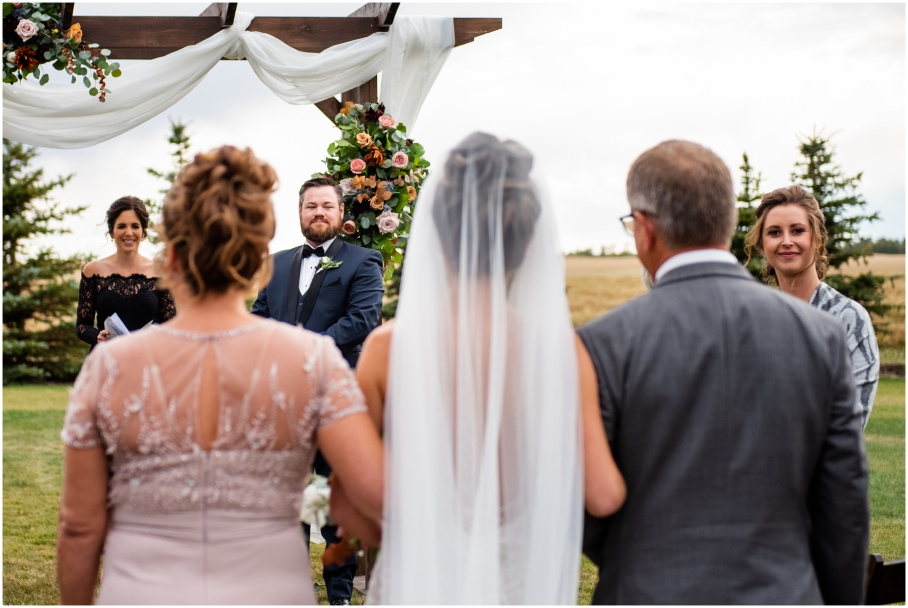 Sweet Haven Barn Wedding Ceremony Photographers - Fall Outdoor Wedding