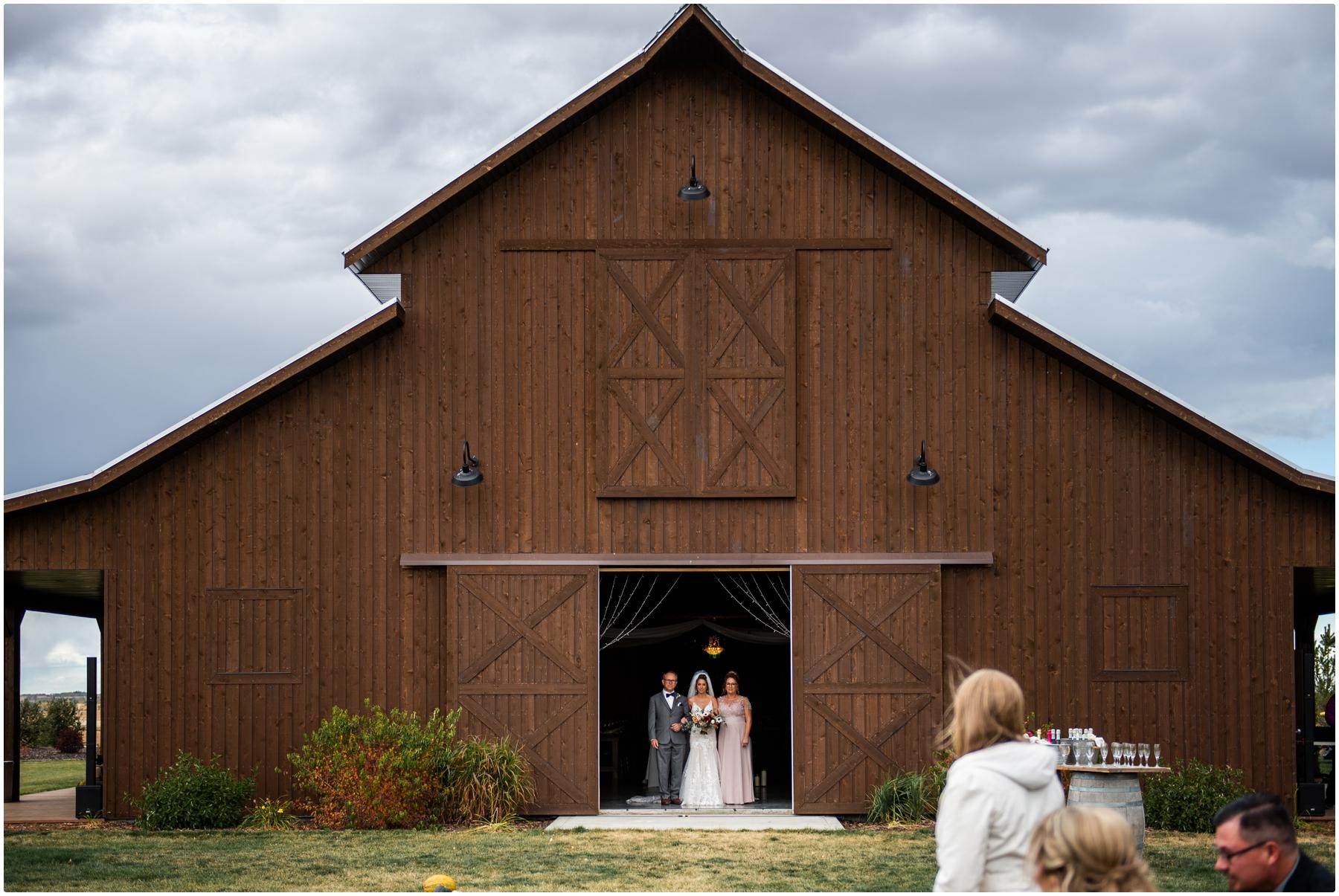 Sweet Haven Barn Wedding Ceremony Photography - Fall Outdoor Wedding